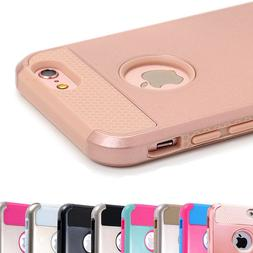 For iPhone 8 7 6s Plus XS X Case Shockproof Hybrid Rubber He