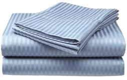 Millenium Linen Queen Size Bed Sheet Set, Light Blue, 1600 S