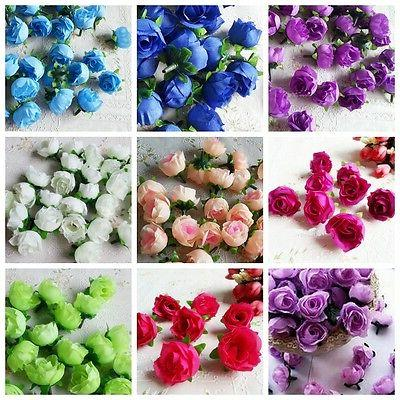 10pcs artificial flowers small silk rose heads