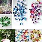 12pcs 3D Butterfly Stick Wall Stickers Home Room Decor Art D