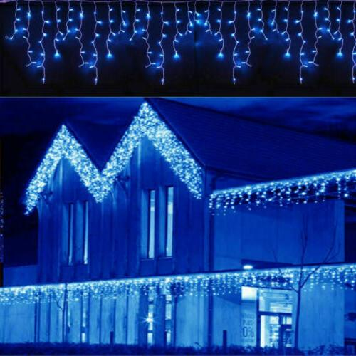 13-130FT LED Hanging Icicle Curtain Lights Home