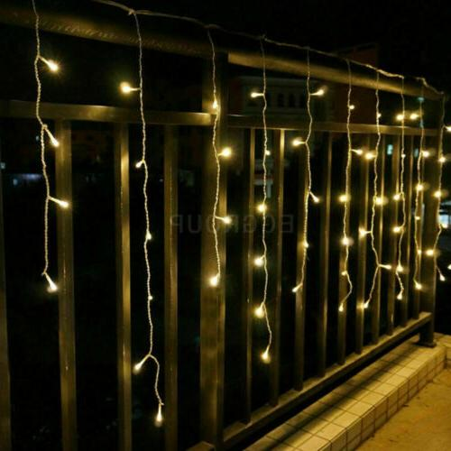 13-130FT Fairy Hanging Curtain Lights Home Xmas