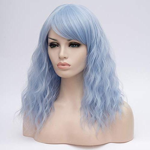 """BERON 18"""" Girls' Lovely Curly Wig with Bangs Synthetic Wigs for Use or Halloween"""