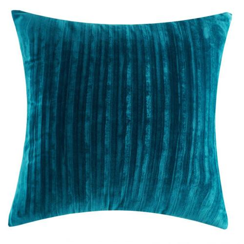 "18"" 18"" Soft Striped Solid Throw Pillow Sofa Cushion Cover"