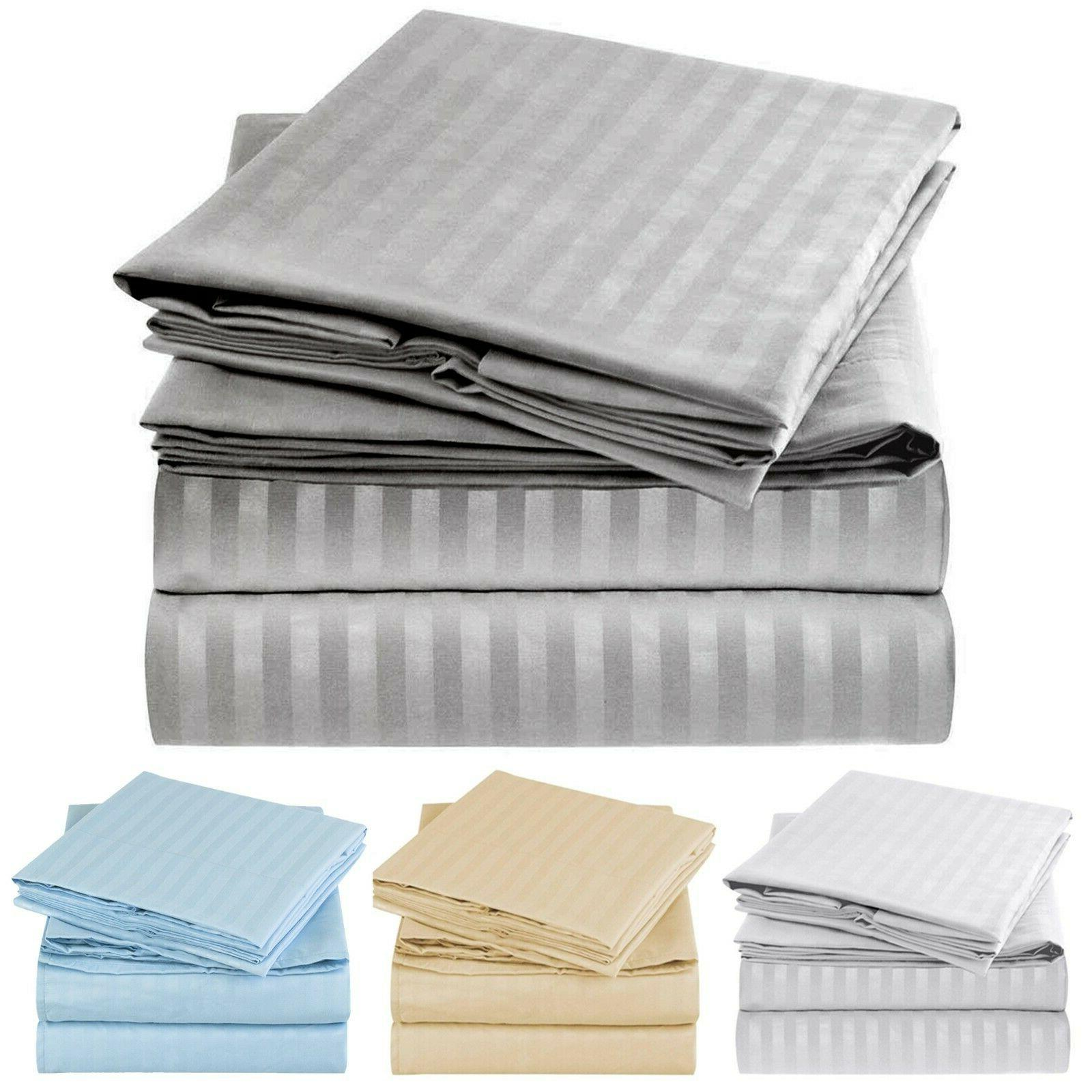 1800 collection striped sheet set wrinkle fade