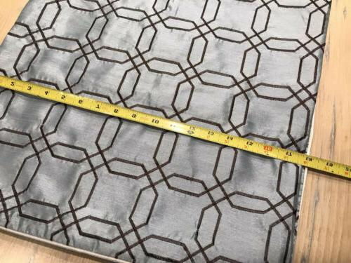 """18x18"""" Decorative Light Blue Brown Trellis Embroidered Cover"""
