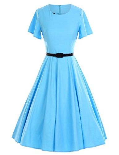 1950s vintage dresses butterfly sleeve swing stretchy