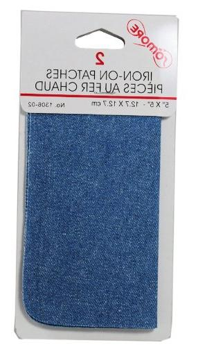 2 iron patches light blue