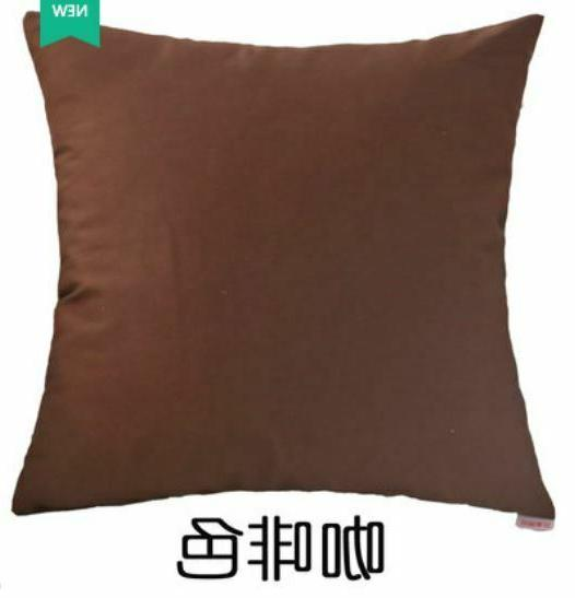 """20''-22""""Decorative Cotton Throw Cushion Solid Color"""