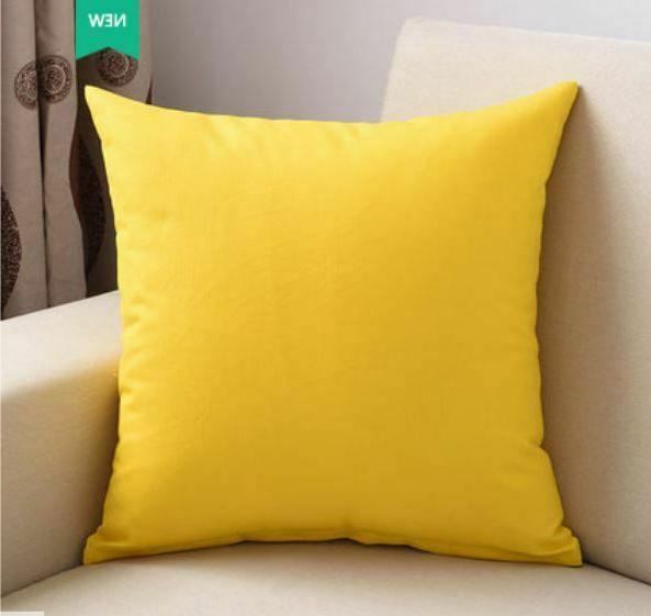 """20''-22""""Decorative Pillow Cotton Throw Cushion Cover Solid"""