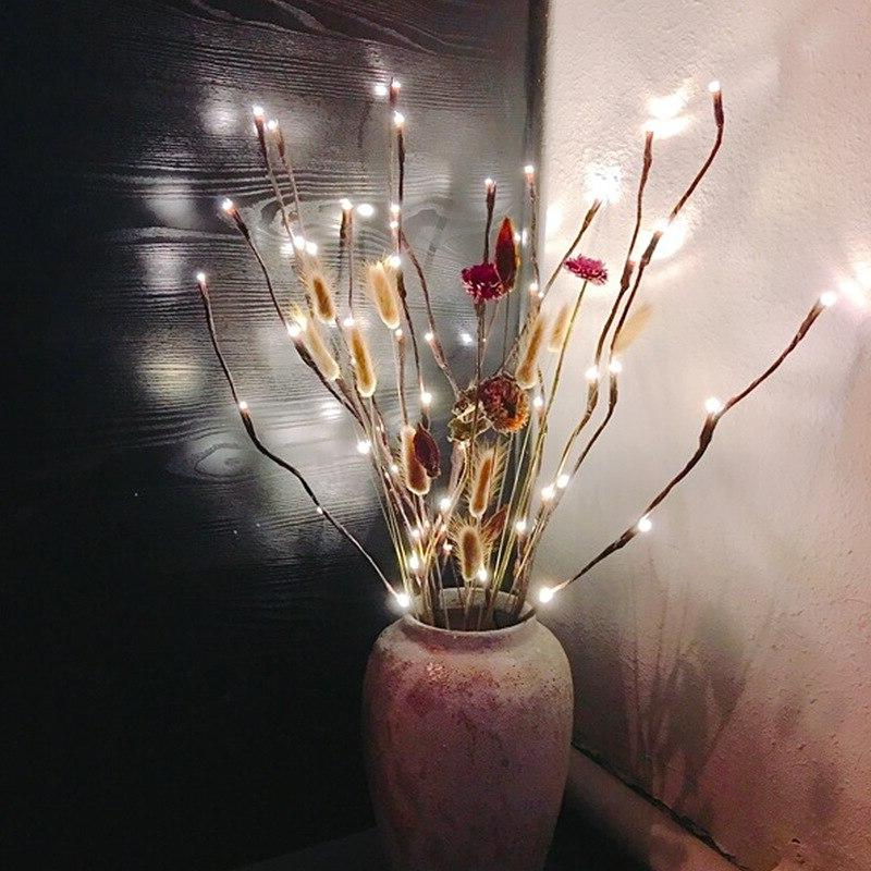 20 Branch Lamp Willow <font><b>Lighted</b></font> For Home Decoration