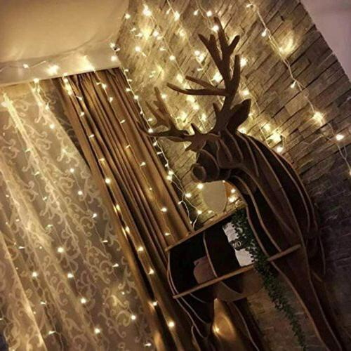 300 LED Window Curtain String Home Decorations 10ft