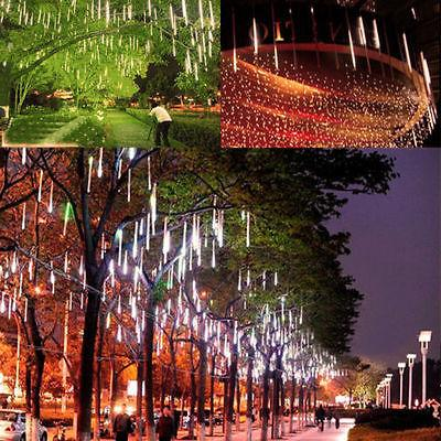30cm 144 Meteor Shower Rain 8 Tube Tree Outdoor