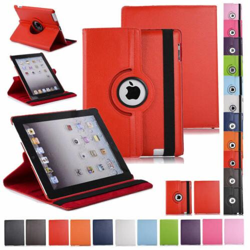 360 rotating leather folio case cover stand