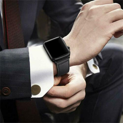 40/44mm Leather Strap iWatch Series