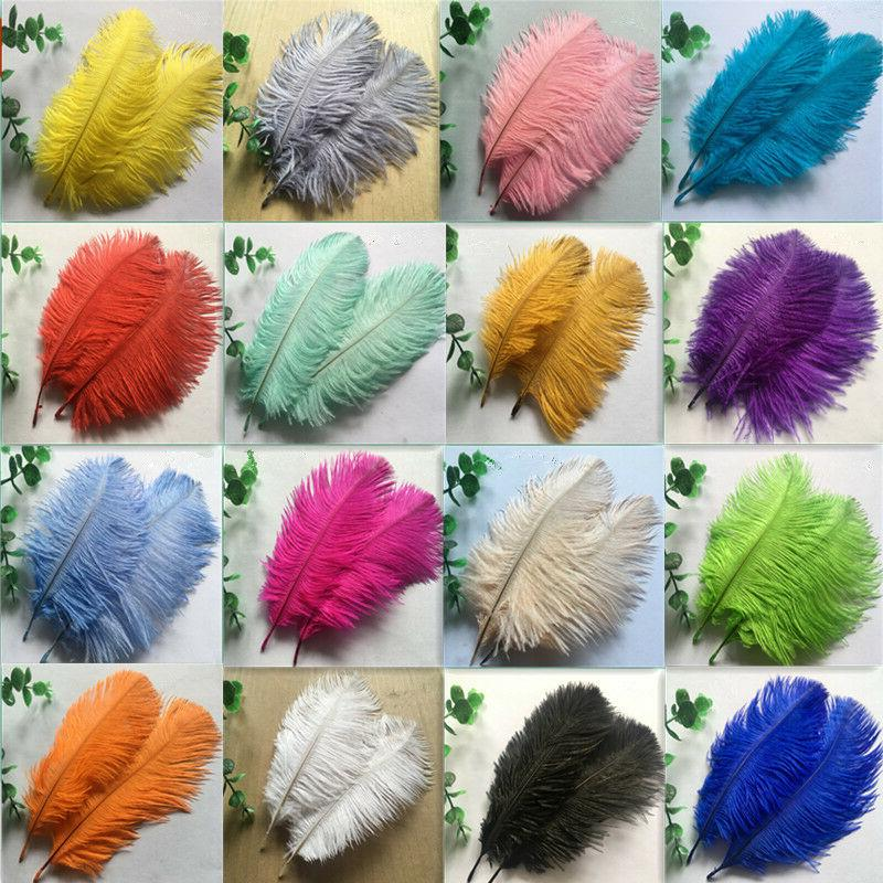 Wholesale 10-200 pcs High Quality Natural Ostrich Feathers 6-24inches 15-60 cm