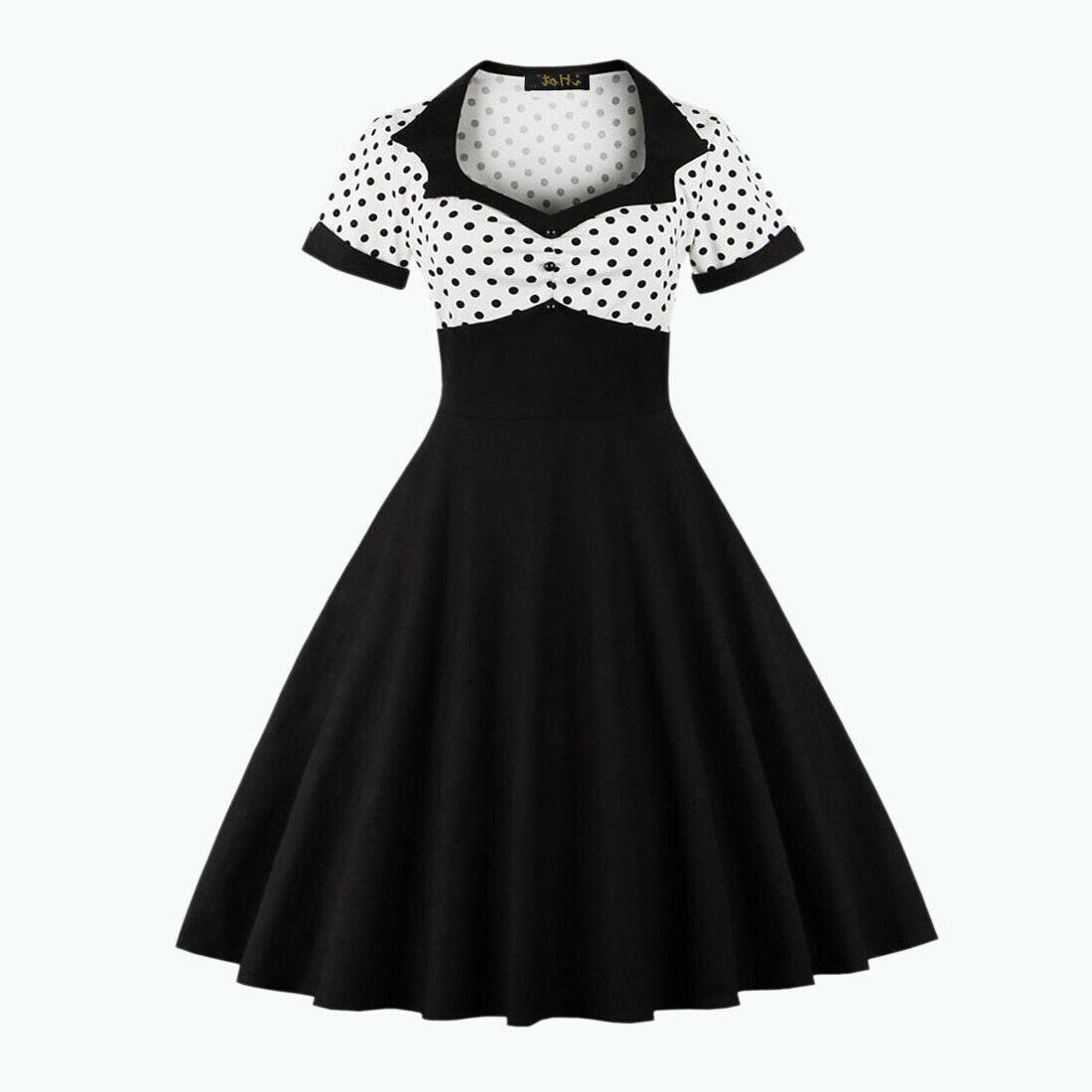 50s 60s Women Swing Vintage Retro Pinup Rockabilly Party