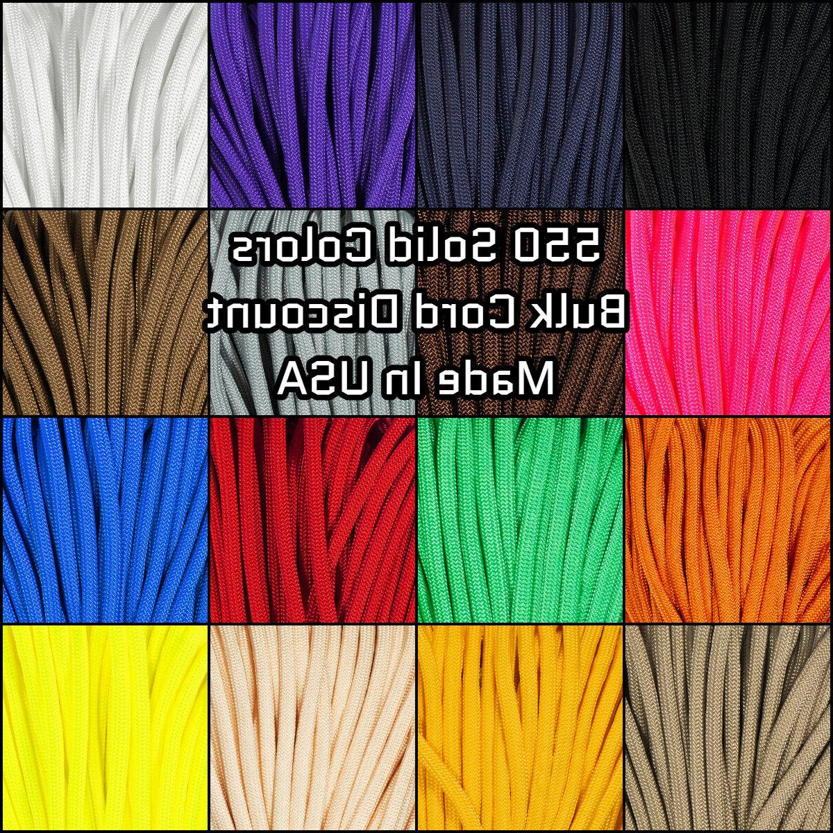 550 paracord solid colors 10 25 50