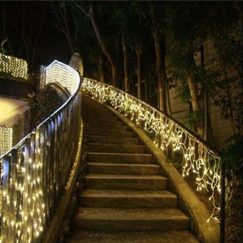 96-960 LEDS Xmas String Icicle Snowing Curtain Light