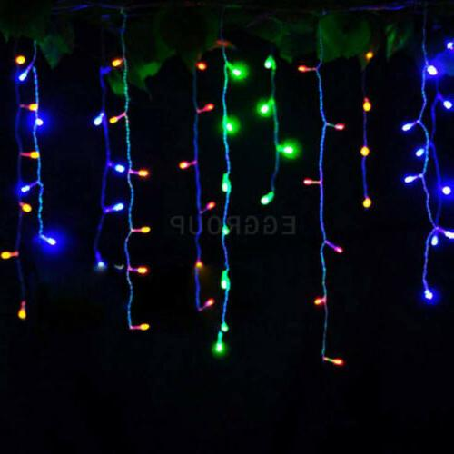96-960 LEDS String Outdoor Hanging Icicle Curtain Light