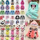 US Kids Baby Girls Boys Cartoon Mickey Minnie Outfits Set Ho
