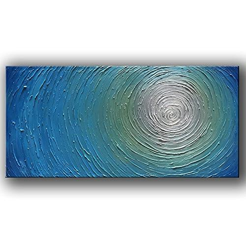 Yasheng Art Abstract Art Oil Painting On Canvas 3d Metallic Bead Light Blue Texture Pictures Canvas Wall Art Paintings Modern Home Decor Paintings