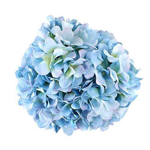 Louiesya Artificial Flowers Hydrangea Flowers Big Heads Fake Bunch Bouquet Wedding Party