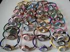 Assorted color finish Cable Band Ladies/Girl's Bangle Cuff F