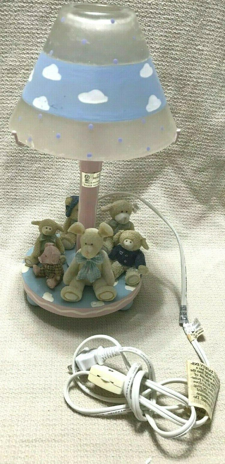 baby night light blue with cute circle