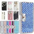 Bling Diamond Crystal Leather Flip Kickstand Wallet Case for