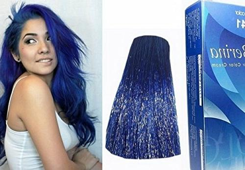 1 Blue Hair Color Dye Blue 60 G. Permanent Fashion Unisex innovative component and to hair