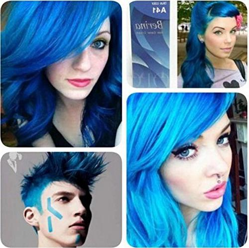 1 Hair Dye A41 Color Blue 60 G. Fashion containing innovative which protects and provides to hair