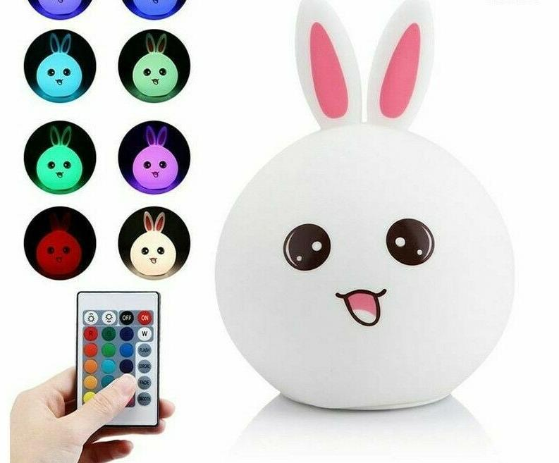 color changing rabbit light for baby nursery