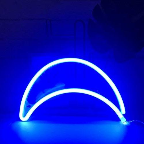 Cute Neon Moon Sign Light,Marquee Christmas,Birthday Room, Party