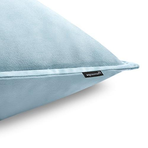 "PHANTOSCOPE New Throw Pillowcsae Square Throw Pillow Set Cushion Case for Sofa x 18"" 45 cm Light Blue Set"