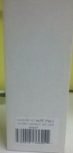 DOLCE LIGHT BLUE 3.3 100ML NEW IN THE TESTER