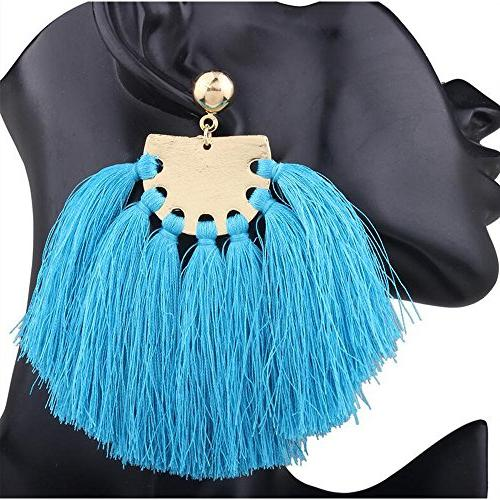 Exaggerate Tassel Colorful Tassel For Vintage Ethnic Jewelry Earrings