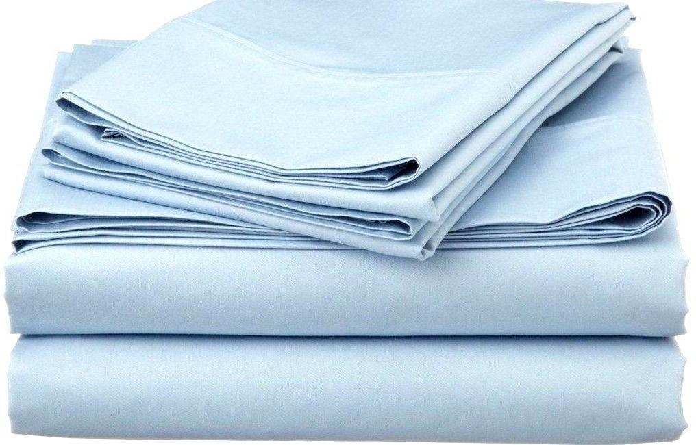 Fitted Light Blue Thread Count 100% One Piece