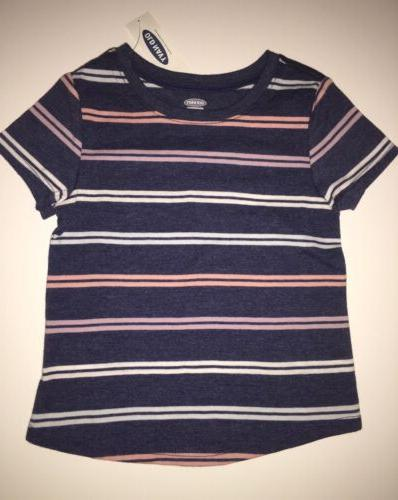 Old T-Shirt Short Stripes Blue, &