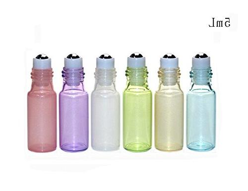 Glass Essential Sample Packing Bottles Metal Roller and Golden Cap Makeup Lip Vial Container Pots Pack of