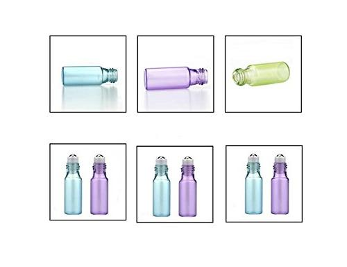 Glass Essential Oil Packing Metal Roller Golden Electronical Aluminum Makeup Lip Pots Pack of