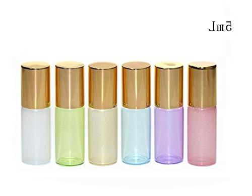Glass Essential Oil Sample Packing Golden Electronical Aluminum Makeup Vial Storage Pots Pack