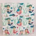 Maravilla Happy Mermaid 3 Piece Sheet Set Twin Size Little G