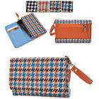 Houndstooth Protective Wallet Case Clutch Cover for Smart-Ph