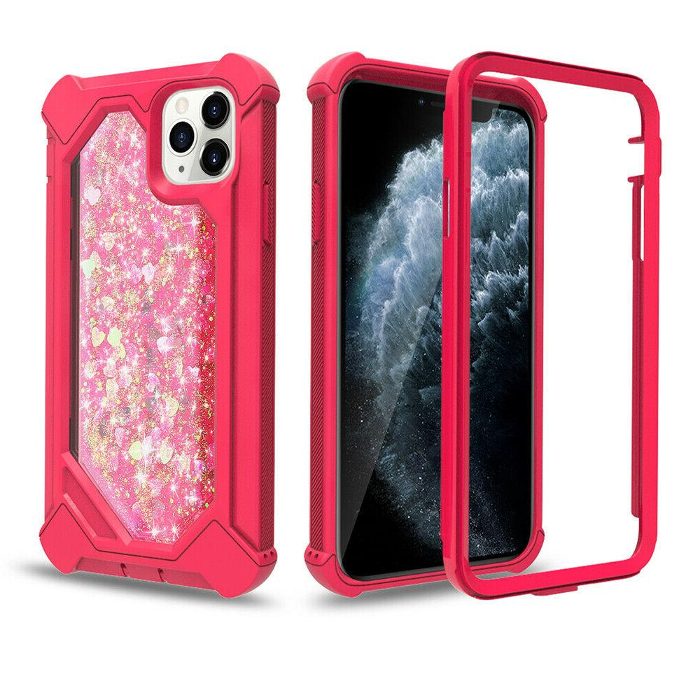 For 11 Pro Max 360° Rugged Glitter Cover