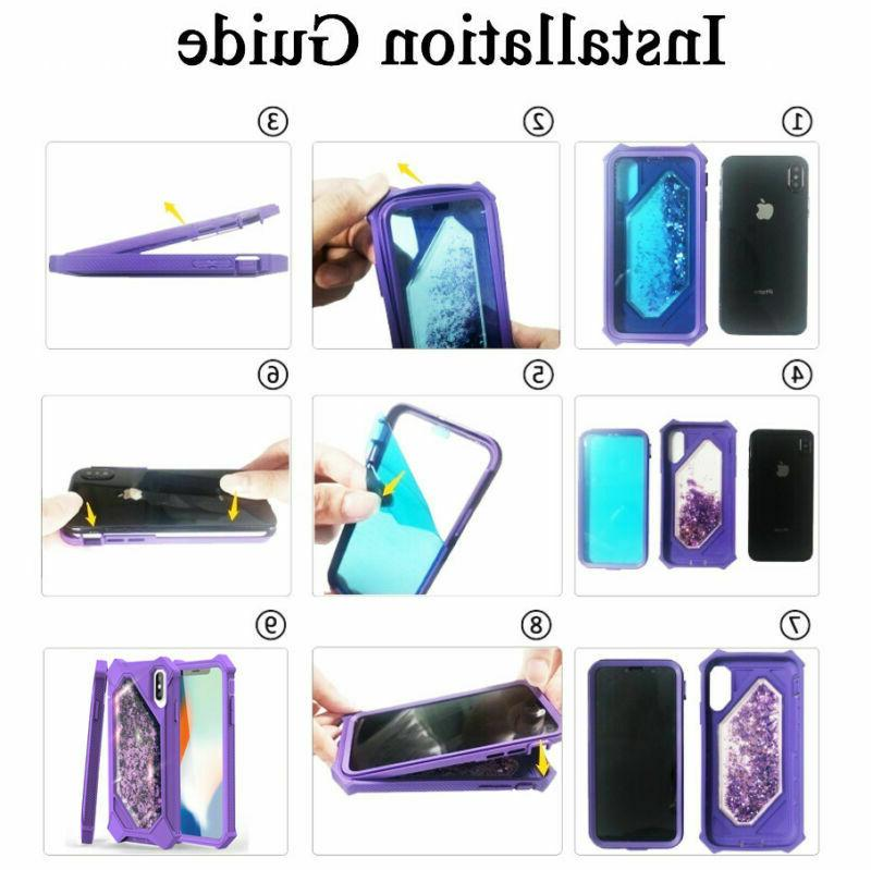 For iPhone 11 Max 360° Rugged Quicksand Case Cover