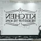 KITCHEN THE HEART OF THE HOME Quote Vinyl Wall Decal Decor S