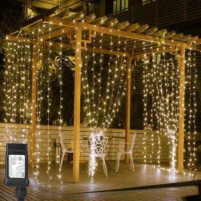 LED Curtain Lights Fairy Twinkle Party Outdoor Decor