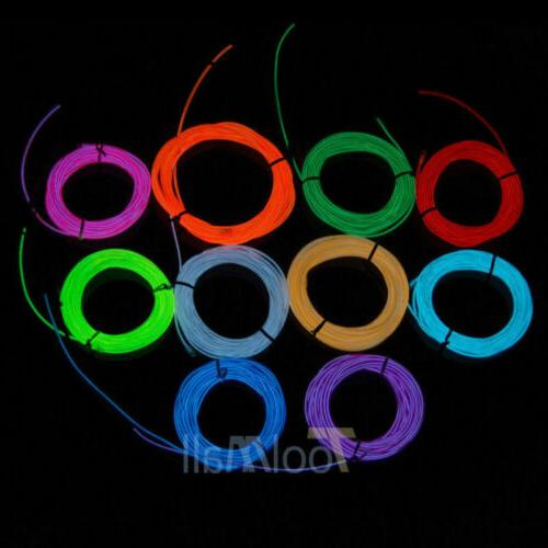 LED EL Wire Glow String Rope Controller Dance
