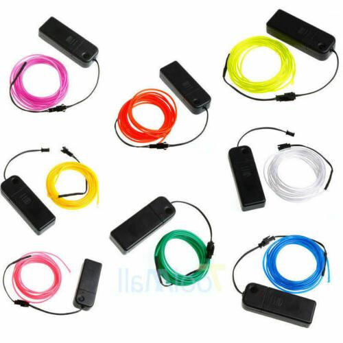 LED EL Glow String Rope Car Dance